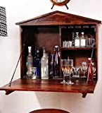 Altavista Aperitif Wall Bar Cabinet (Teak Finish)