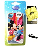 BUKIT CELL Disney ® Mickey Mouse and Minnie Mouse HARD BACK PIECE Faceplate Protector Case Cover (Cute Mickey and Minnie on a Date!) for Apple iPhone 4S / 4G / 4 (Fits any carrier AT&T, VERIZON AND SPRINT) + Free WirelessGeeks247 Metallic Detachable Touch Screen STYLUS PEN with Anti Dust Plug