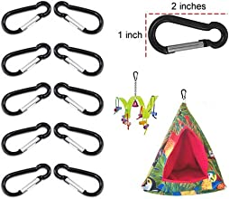 Light-weight Bottle gourd Shaped Carabiner with Anodized Aluminum Finish - Set of 10