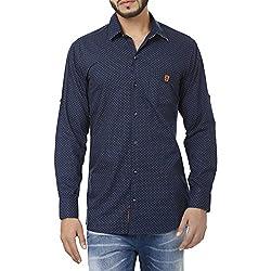 Inchitape Men's Casual Shirt (Inch_01_Blue_X-Large)