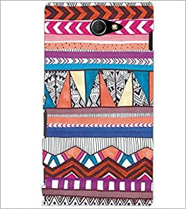 PrintDhaba Tribal Pattern D-5437 Back Case Cover for SONY XPERIA M2 (Multi-Coloured)