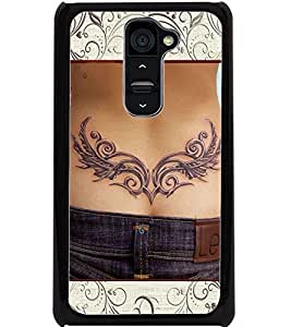 ColourCraft Awesome Tatto Design Back Case Cover for LG G2