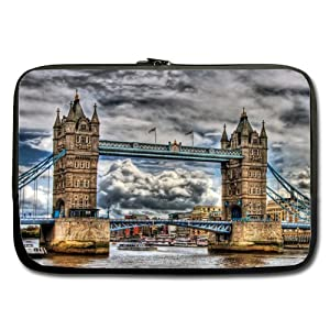 Bridge Of London England Twin Sides Laptop Sleeve / Laptop Bag / Laptop Cover / Laptop Sleeve Macbook Air For MacBook Pro 17