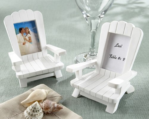 Beach Memories Miniature Adirondack Chair Place Card Photo Frame Set of 4 (Set of 6)