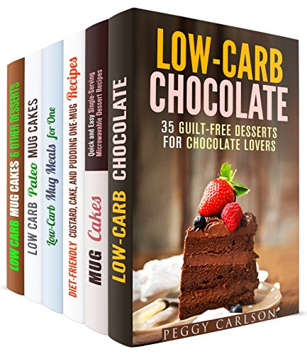 Mug Meals Box Set (6 in 1): Mouthwatering Low Carb Chocolate Desserts, Puddings, Cakes and Other Healthy Meals in a Mug (Meals for Busy People) by Peggy Carlson, Jessica Meyer, Elena Chambers, Jillian Riggs, Sheila Hope, Sherry Morgan