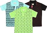 TONYBOY Boy's Polo T-Shirt (Combo Pack Of 3)