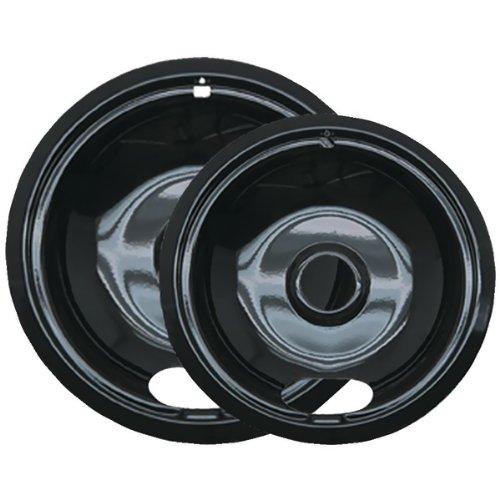 Brand New Range Kleen Black Porcelain Drip Pans, 2 Pk (Style A)