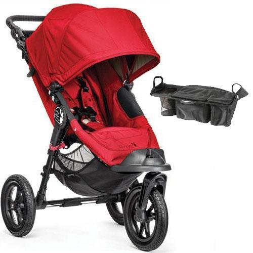 Baby-Jogger-City-Elite-Single-Stroller-with-Parent-Console-Red