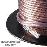 Mediabridge 16AWG Speaker Wire (100 Feet) - Spooled Design with Sequential Foot Markings