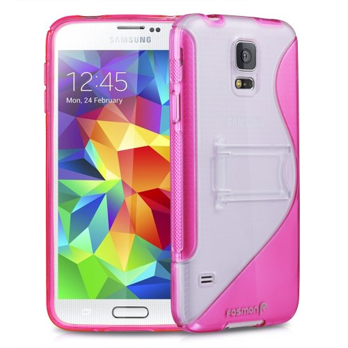 =>  Fosmon HYBO-SK Dual Layer Hybrid Kickstand Case for Samsung Galaxy S5 (Pink)