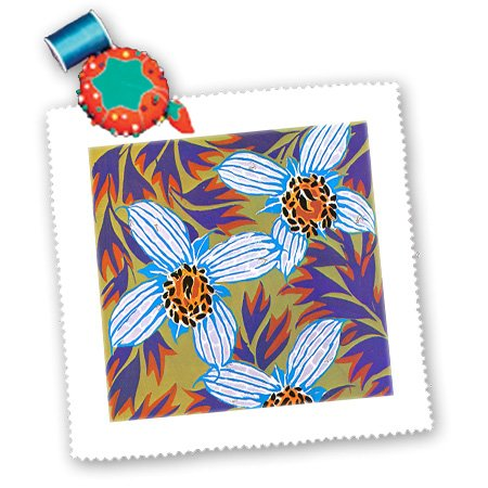Qs_102349_2 Dooni Designs Floral And Nature Designs - Funky Electric Flowers Design - Quilt Squares - 6X6 Inch Quilt Square