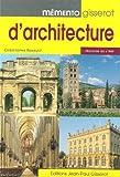 echange, troc Christophe Renault - Memento Gisserot d'Architecture