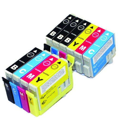 SH Non-OEM Ink Cartridge SCIS for Epson 126 T1261 T1262 T1263 T1264 WorkForce 520 630 633 635 840 60 435 545 645 845 Printers - 10 Pack