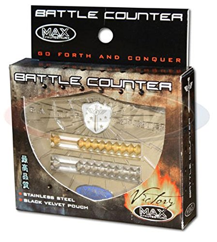 Max Protection VICTORY Abacus Style Stainless Steel Battle Counter - 1