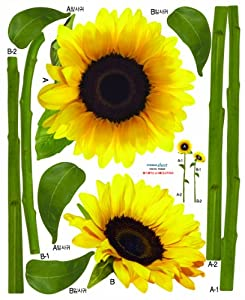Wall Point Sticker: KRHS-PS-58029 - Sunflower