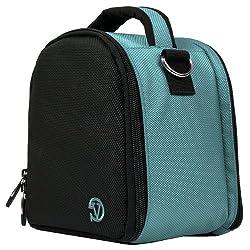 VangoddyTM Laurel Compact Edition Sky Blue DSLR Camera Handbag Carrying Case with Removable Shoulder Strap