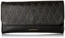 Vera Bradley Micro-Stud Harper Envelope Clutch, Black/Gold Tone, One Size