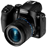 "Samsung NX30 20.3MP CMOS Smart WiFi & NFC Mirrorless Digital Camera with 18-55mm Lens and 3"" AMOLED Touch Screen and EVF (Black)"