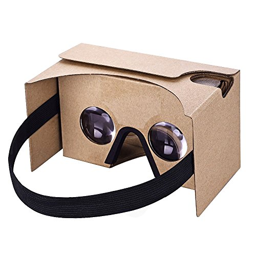 Turbot 3D Cardboard VR Virtual Reality Headsets Glasses Goggles for 3D Movies Videos Games