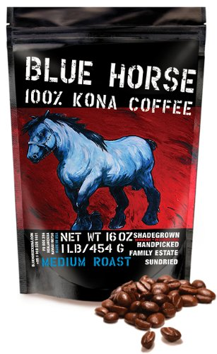 Farm-Direct: 100% Kona Coffee, Medium Roast, Whole Beans, 1 Lb