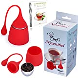Loose Leaf Tea Infuser w/ Matching Drip Tray + Bonus eGuide ~ By Chef's Necessities