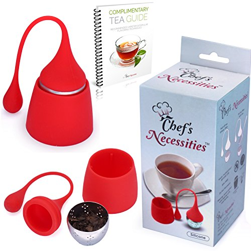 Buy Bargain Chef's Necessities Loose Leaf Tea Infuser w/ Matching Drip Tray