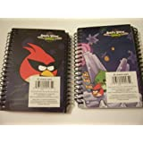 Angry Birds Space 2 Pack Spiral Notebooks By Mead (Crystalized, Super Red Bird)