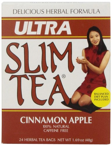 Ultra Slim Tea, Cinnamon Apple, Tea Bags, 24 Count Box