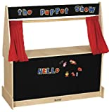 "ECR4Kids 49"" x 20"" x 49"" Puppet Theater, Flannel Covered"