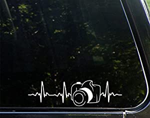 "Camera - 8 3/4""x 2 1/2"" - Vinyl Die Cut Decal / Bumper Sticker For Windows, Trucks, Cars, Laptops, Macbooks, Etc."