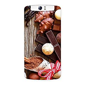 Stylish Chocolate Candies Multicolor Back Case Cover for Oppo N1