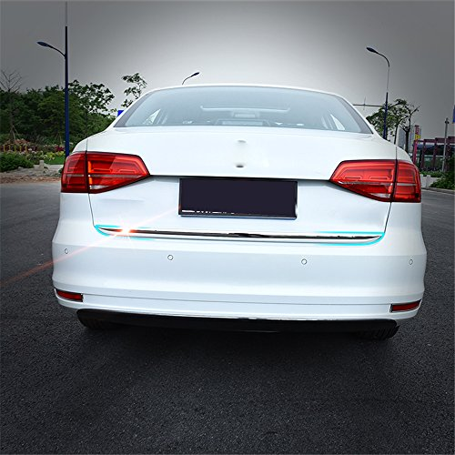 Kust cs36553w Car Chrome Trims Rear Trunk Molding Trim For 2016 Jetta Volkswagen (Pack of 1 Piece Stainless Steel Fit For Rear Trunk Back Installed Size) (Volkswagen Jetta Back Bumper compare prices)