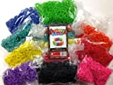 LIMITED TIME 50% OFF! Rubber Band Bracelets - 6000 Premium Rainbow Color Loom Bands - 10 Beautiful Colors Conveniently Separated! - Includes 250 S and C Clips! Best Value and Quality of Rainbow Loom Bands Available! Refill your Rainbow Loom Organizer today!