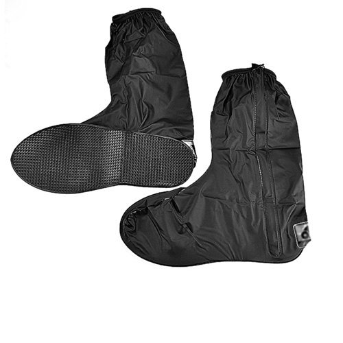 Waterproof Springtime Summer Rainstorm Rainy Day Rainsuit Raingear Motorcycle Road Bike Cruiser Chopper Driving Biker Gear Boot Shoe Cover with Side Zipper Black Adult Mens US 10-11 (Euro 44-45) (Motorcycle Shoe Cover compare prices)