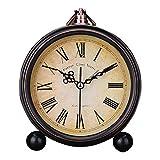 ZQY retro continental pastoral creative alarm clocks lazy mute student alarm clocks minimalist bed a small alarm clock clock table clock D