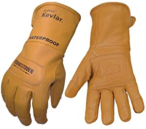 Youngstown Glove 11-3285-60-XL Flame Resistant Waterproof Leather Utility Lined with Kevlar Gloves, X-Large