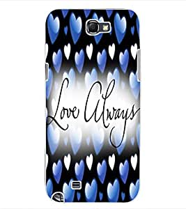 ColourCraft Love Design Back Case Cover for SAMSUNG GALAXY NOTE 2 N7100