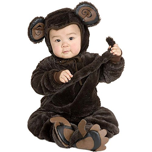 Plush Monkey Kids Costume