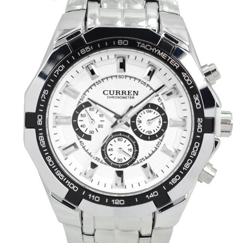 CURREN New Quartz Hours Stainless Steel Water Resistant Men Analog Leisure Wrist Watch image