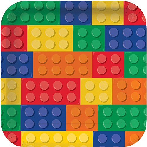 Buy Cheap Building Block Party Square Dinner Plates