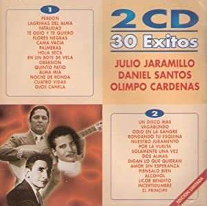 """Olimpo Cardenas, Julio Jaramillo, Y Olimpo Cardenas """"30 Grandes Exitos"""""""