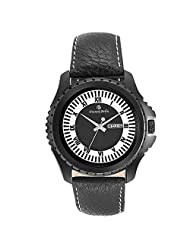 Franck Bella Casual Series A Superbely Designed Dial With Black Case Day Date View Analog Black Dial Mens Watch-FB0189B