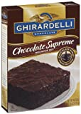 Ghirardelli Chocolate Supreme Brownie Mix, Chocolate Syrup, 18.75-Ounce Boxes (Pack of 12)