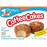 Coffee Cakes Drakes 10 Cakes with Cinnamon Streusel Topping