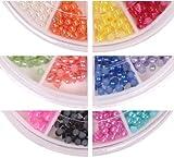 1320 X 3.0mm Nail ART TIP Half Round Baby Pearl Decoration Wheel