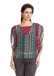 Zovi Womens Polyester Long Sleeve Top ,Multi-Coloured ,Medium
