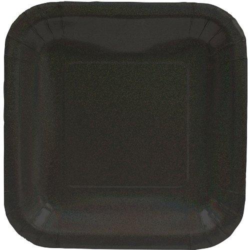 Black Glitz Dessert Plates - 1