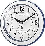 DAILY(リズム時計) 強化防滴・防塵(屋内用) 小型クォーツ時計 アクアパークDN 青色 4KG711DN04