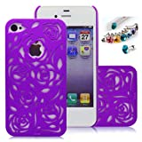 Cocoz®romantic Purple Roses Carved Palace Fashion Design Hard Case Cover Skin Protector for Iphone 4/4s At&t Sprint... by CocoZ