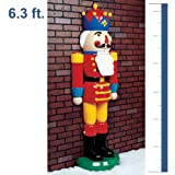 Life-Size Half Christmas Nutcracker - Fiberglass - 6.3 ft.